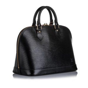 Louis Vuitton Black Epi Leather Noir Alma PM